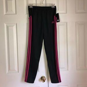 NWT Kid's Adidas Black & Pink Striped Pants